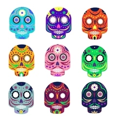 Mexican day of the dead concept vector image