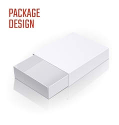 White product cardboard a vector