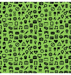 seamless pattern with technology icons vector image