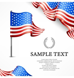 American flag banners with vector