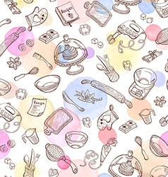 Baking background vector