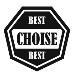 Best choise label icon simple style vector