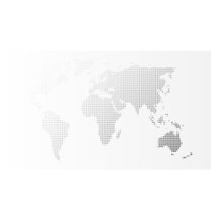 Blank grey abstract world map template vector