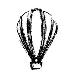 blurred sketch contour hot air balloon icon vector image vector image