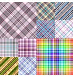 Collection colorful geometric seamless patterns vector