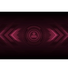 Dark hi-tech background with HUD interface and vector image vector image