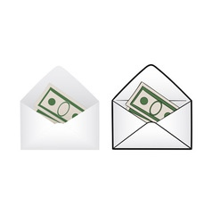 Envelope with money vector