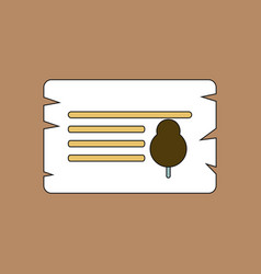 flat icon design collection paper from tree vector image