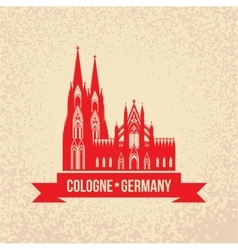 German city Cologne travel symbol vector image vector image