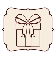 Gift inside frame design vector