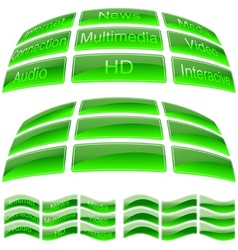 Green Glass Buttons vector image