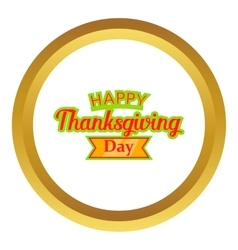 Happy thanksgiving day icon vector