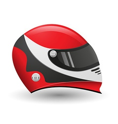 helmet for a racer vector image