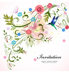 invitation flower vector image