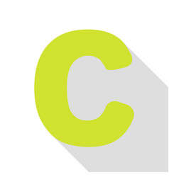 Letter c sign design template element pear icon vector