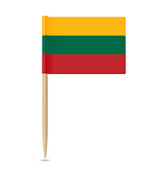 Lithuania flag toothpick vector