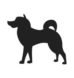 Malamute black silhouette vector
