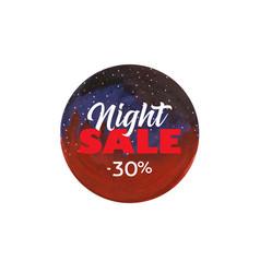 Night sale dark banner vector