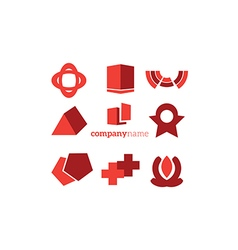 objects logo elements vector image