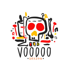 Original hand drawn voodoo magic logo design vector