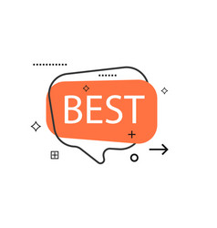 Outline speech bubble with best phrase vector