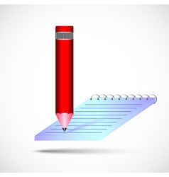 pencil with notebook in color vector image