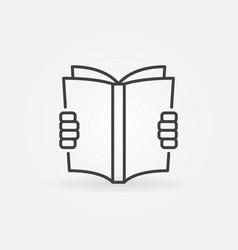 Reading a book concept icon vector