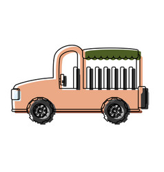 Safari car icon vector