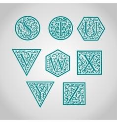 Set of logo designs artistically drawn stylized vector