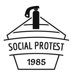 Social protest riot logo simple black style vector