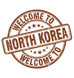 Welcome to north korea vector