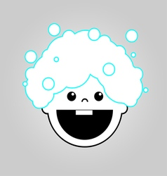 Baby bath icon vector