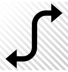 Opposite bend arrow icon vector