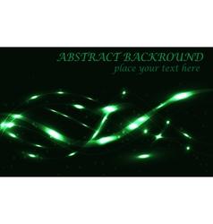 dark green abstract background bokeh vector image
