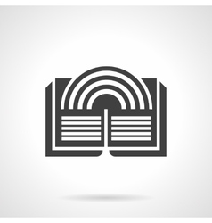 Literary imagination glyph style icon vector