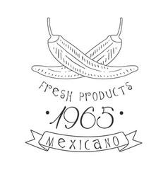 Restaurant fresh products mexican food menu promo vector