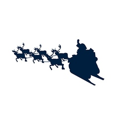 Icon shadow santa claus vector