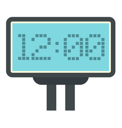 Scoreboard with result display icon isolated vector
