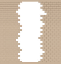 broken brick wall with place for text vector image