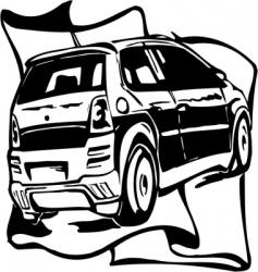 street racing cars vector image