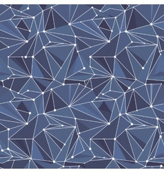 Indigo geometric pattern vector