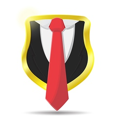 Guard suit lawyer shield protect vector