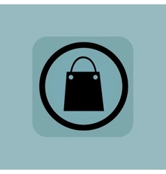 Pale blue shopping bag sign vector