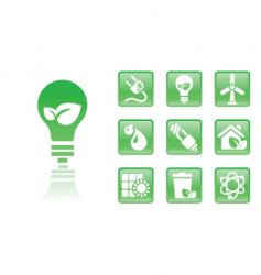 green icons bulb vector image