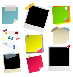 note papier sticker postit vector image