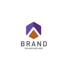 Best letter a logo octagonal concept vector