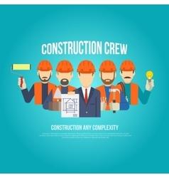 Builders concept flat vector