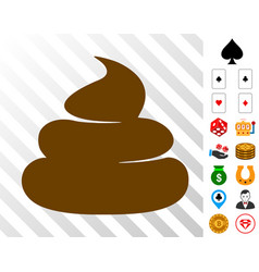 Crap icon with bonus vector