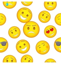 Emoticons pattern cartoon style vector image vector image