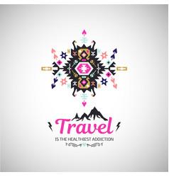 Fancy abstract geometric simbol in tribal vector